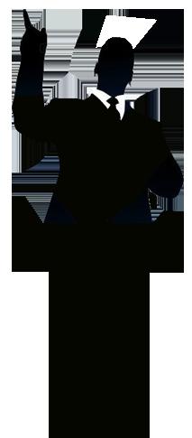 preacher silhouette